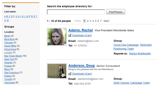 Employee Directory screenshot