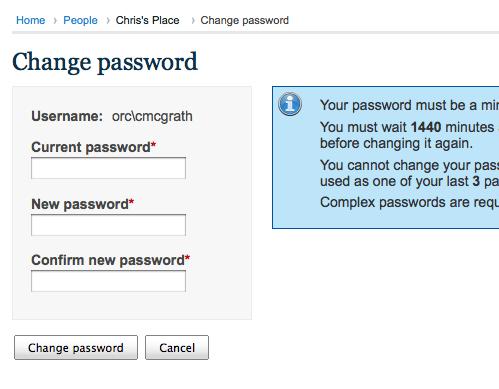 [screenshot] Change password