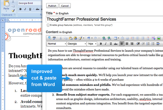 Improved cut & paste from Word
