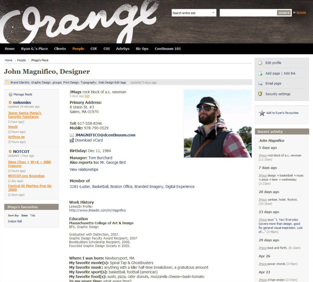 Continuum uses ThoughtFarmer Intranet for Employee Directory