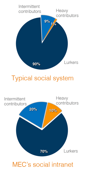 Pie chart - Participation Inequality