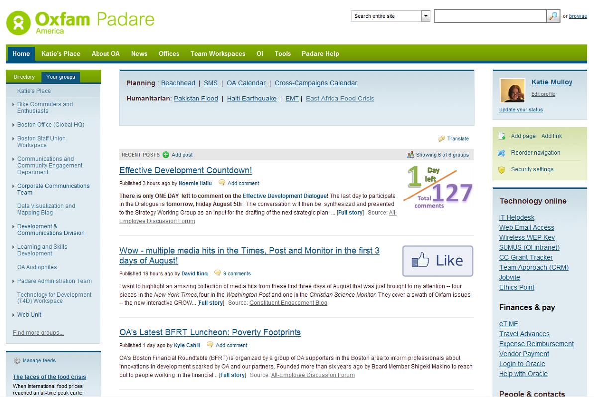 Padare Homepage