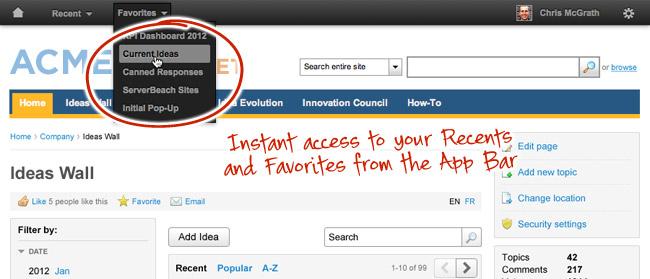 [screenshot] The Application Toolbar