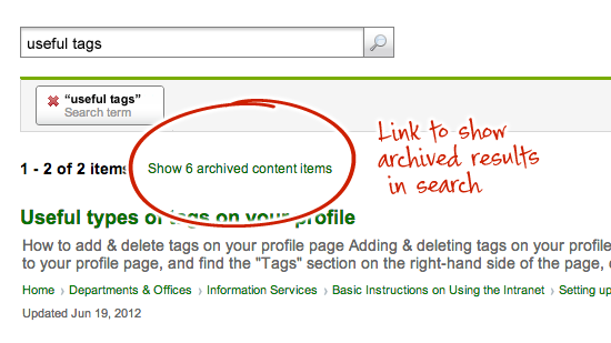 Intranet archiving - A social intranet user's BFF