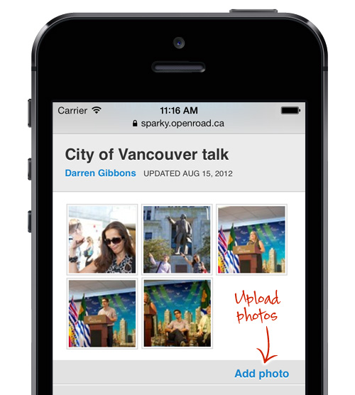 Add photos to your intranet from your iPhone