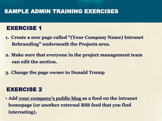 intranet training program