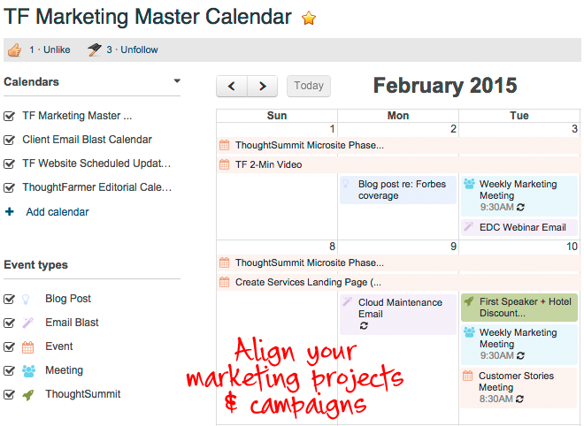 Managing Marketing with Editorial Calendar