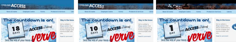 intranet countdown clock
