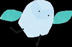 Happy bird icon