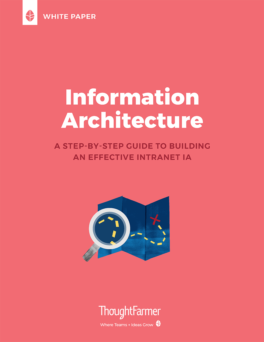 Intranet Information Architecture White Paper, cover