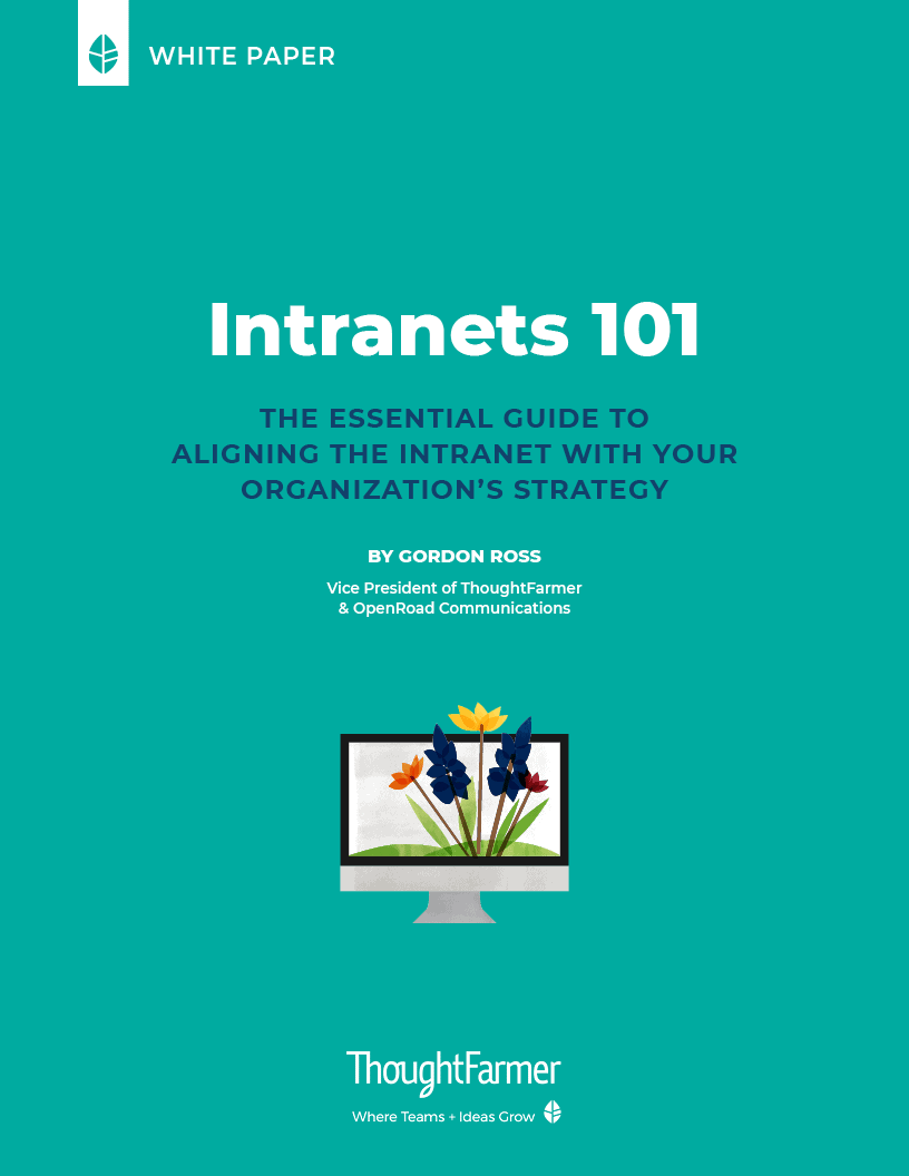 Intranets 101, Cover