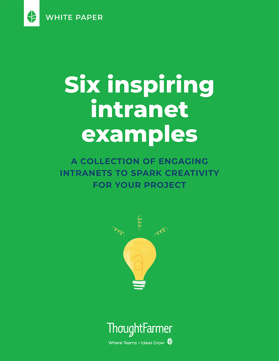 Six Inspiring Intranet Examples, cover