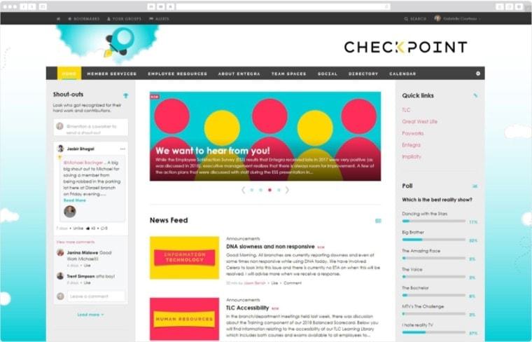 Checkpoint Intranet Screenshot